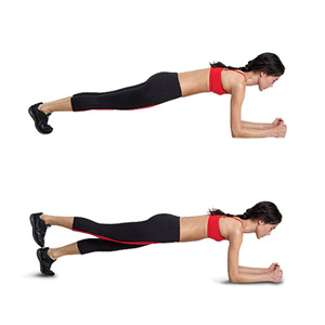 plank with side taps
