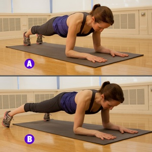 plank with taps