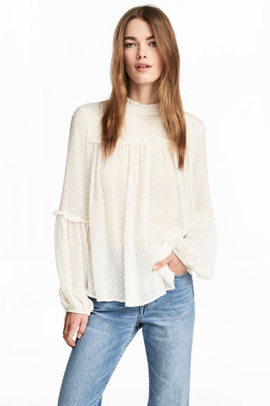high kneck blouse